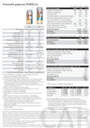 Technische gegevens HYMER Car Technische ... - Hymer AG