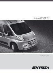 Hinnasto HYMER Car