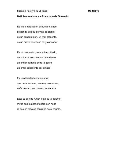 Spanish Poetry 10 20 Li