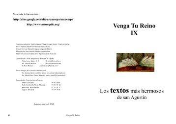 Texto de San Agustin - Soy Asuncionista