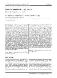 İntestinal lenfanjiektazi, olgu sunumu - Akademik Gastroenteroloji ...