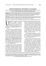 spontan intrakranyal hipotansiyon: olgu sunumu - Cerrahpaşa Tıp ...
