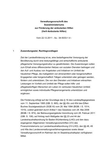 Richtlinien des Sozialministeriums zur Förderung der ambulanten ...