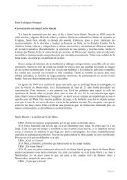 Emir Rodríguez Monegal - Conversación con Juan Carlos Onetti