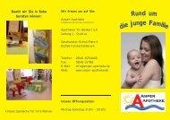 Unser Angebot für die junge Familie Pflege für ... - Amper Apotheke