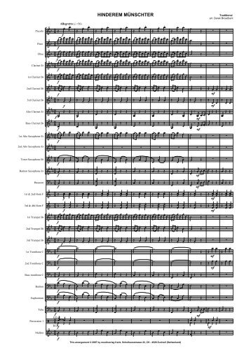 Hinderem Munchster WB score - Musikverlag Scherbacher