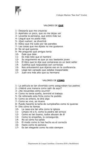 Valores de que, como.pdf - Colegio Marista San José