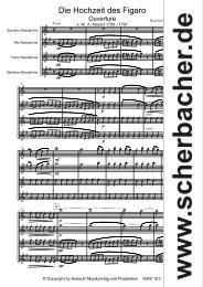 Figaros Hochzeit Score Sax.mus - Musikverlag Scherbacher