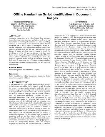 Offline Handwritten Script Identification in Document Images