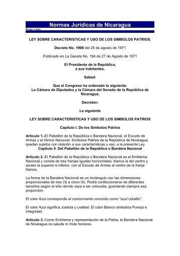 Ley sobre características y uso de los Símbolos Patrios - Mined