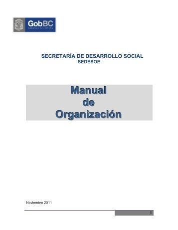 Manual de Organización - Gobierno del Estado de Baja California