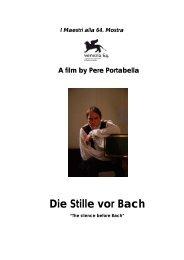 Die Stille vor Bach - Studio Morabito