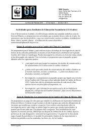 Actividades para Institutos de Educación Secundaria (12-16 años)