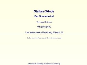 Stellare Winde - ESO