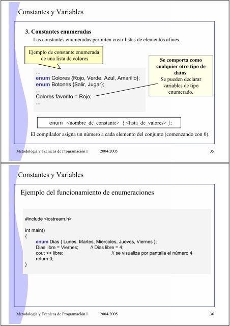 Constantes Y Variables 3