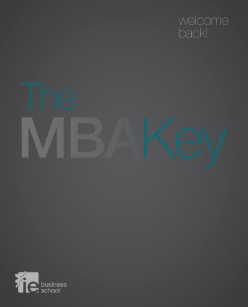 Descarga el folleto The MBA Key - Welcome back! - IE