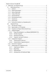 Kapitel 4 (Differential- und Integralrechnung