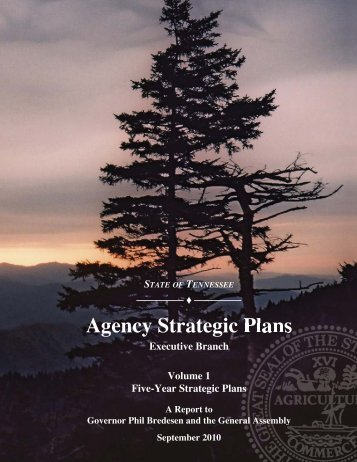 Agency Strategic Plans - TN.gov