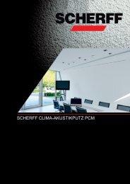 Clima-Akustikputz PCM - Scherff GmbH und Co. KG