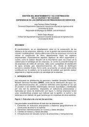 gestión del mantenimiento y su contribución en la calidad y no ...