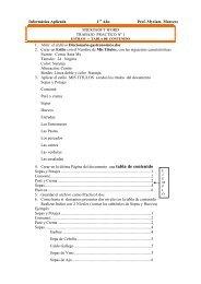tabla de contenido - INSTITUTO DE LA RIVERA Prof. Myriam Marecos