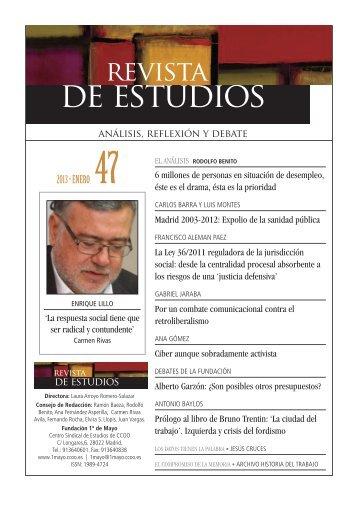 Revista 47 - Fundación 1º de Mayo - CCOO