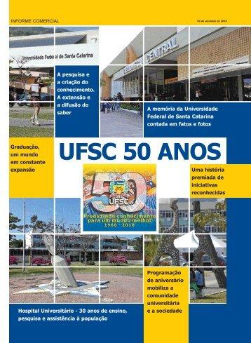 Caderno UFSC 50 Anos - Agência de Comunicação da UFSC