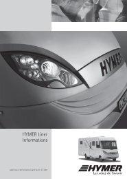 HYMER Liner Informations
