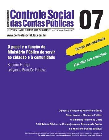 O papel e a função do Ministério Público de servir ao ... - TCM-CE