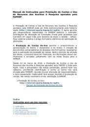 Manual de Instruções para Prestação de Contas e Uso de Recursos ...