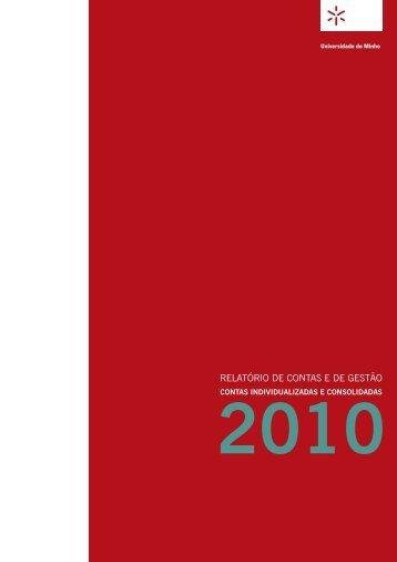 Relatório de Contas e de Gestão 2010 - Universidade do Minho