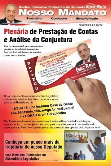 Plenária de Prestação de Contas e Análise da Conjuntura - Isac Reis