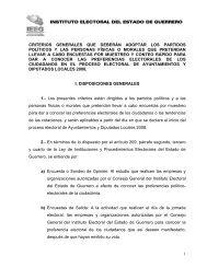 Criterios de Encuestas por Muestreo y Conteo Rápido - Instituto ...