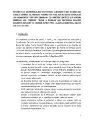 Informe sobre los lineamientos y criterios para Encuestas y Conteos ...