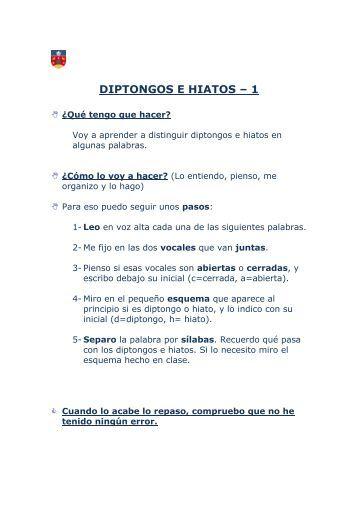 diptongos e hiatos – 1 - Lengua y Literatura del Colegio Aldeafuente
