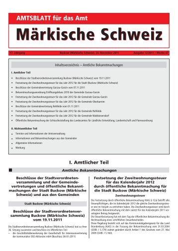 Märkischer Hof Rehfelde - Amt Märkische Schweiz
