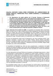 GALICIA CONTARÁ CUNHA REDE INTEGRADA DE ... - Sergas
