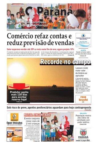 Comércio refaz contas e reduz previsão de vendas - O Paraná