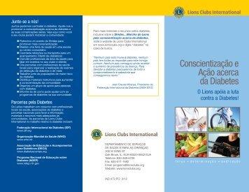 Folheto do Programa de Diabetes - Lions Clubs International