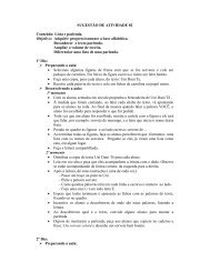 SUGESTÃO DE ATIVIDADE 02 Conteúdo: Lista e parlenda. Objetivo ...