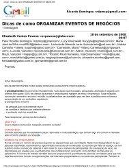 Gmail - Dicas de como ORGANIZAR EVENTOS DE NEGÓCIOS