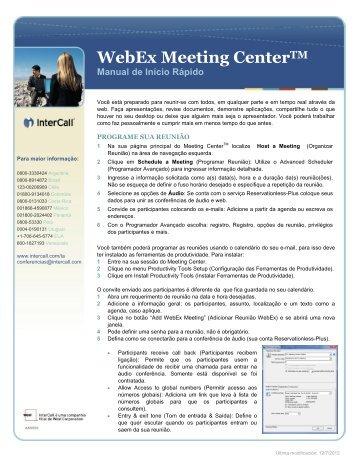 Guia de início - Conferência - InterCall