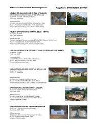 Referenzliste Öffentliche Bauten