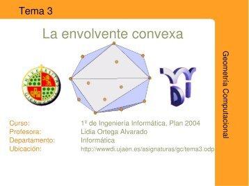 La envolvente convexa - Departamento de Informática