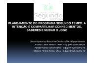 planejamento do programa segundo tempo - Ministério do Esporte