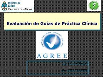 Instrumento AGREE para la Evaluación de Guías de Práctica Clínica.