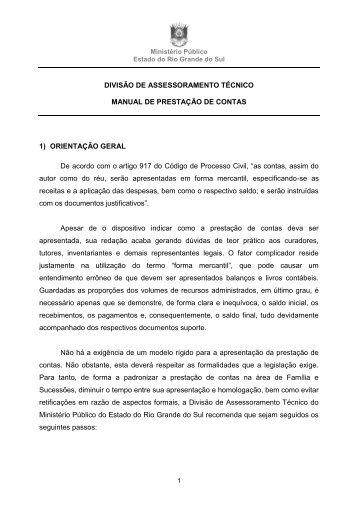 Manual de Prestação de Contas - Ministério Público - RS