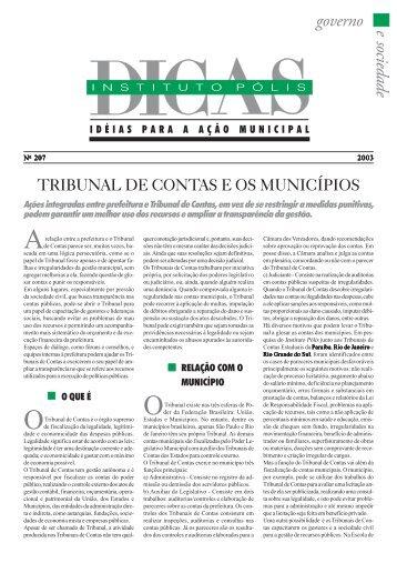 Tribunal de Contas e os Municípios - Polis
