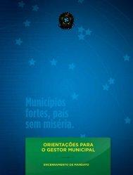 Orientações para O GestOr Municipal - Controladoria-Geral da União