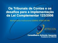 Os Tribunais de Contas e os desafios para a ... - Fomenta Sebrae